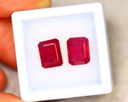 Ruby 5.70Ct 2Pcs Madagascar Blood Red Ruby EN69/A20
