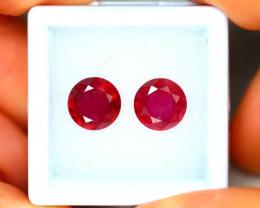 Ruby 5.19Ct 2Pcs Madagascar Blood Red Ruby EN83/A20