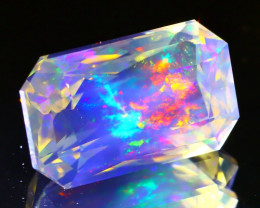 4.65Ct ContraLuz Precision Cut Mexican Very Rare Species Opal A0805