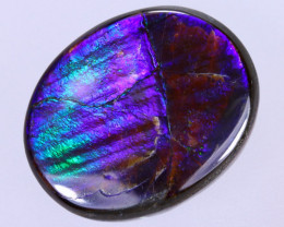 15x12mm,  8.04cts Natural Canadian Ammolite Stone / MA1609