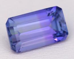 3.52Ct VVS Octagon Cut Natural Vivid Purplish Blue Tanzanite A0822