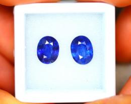 Ceylon Sapphire 4.84Ct 2Pcs Royal Blue Sapphire EN87/A23