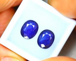 Ceylon Sapphire 5.70Ct 2Pcs Royal Blue Sapphire EN91/A23