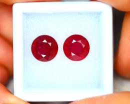 Ruby 5.97Ct 2Pcs Madagascar Blood Red Ruby EN93/A20