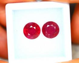 Ruby 5.85Ct 2Pcs Madagascar Blood Red Ruby EN111/A20
