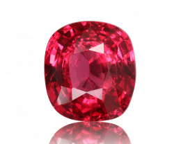 Vivid Red Natural Spinel 3.92 cts from Burma