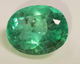Rare Muzo Esmeralda Colombia 11.80ct Pyrite Inlay