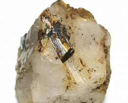 Beautiful Rare Rutile combine  with lovely Quartz 249Cts-Afghanistan