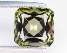 4.55 ct Natural Green Tourmaline - Square Cut - from Africa