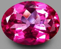 10.84Cts Genuine Amazing Natural Pink Topaz Oval  Shape Loose Gem VIDEO