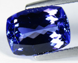 4.38Cts Beautiful Natural Blue Color Tanzanite Cushion Shape Collection Ge