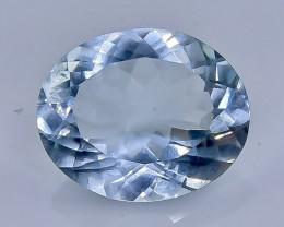 3.82 Crt  Aquamarine Faceted Gemstone (Rk-87)