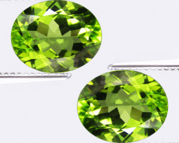 5.08Cts Genuine Excellent Natural Peridot 10x8mm Oval Shape Matching Pair R