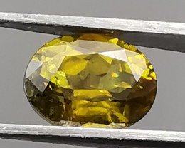 Sphene, 1.14ct, shining in all kind of colours, nice stone!
