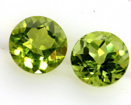 2.19 CTS PERIDOT FACETED PAIRS CG-3318