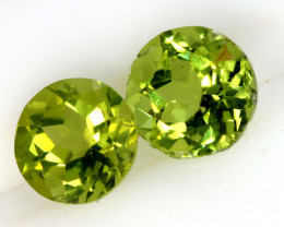 1.87 CTS PERIDOT FACETED PAIRS CG-3320