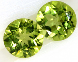 1.68 CTS PERIDOT FACETED PAIRS CG-3322
