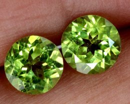 1.90 CTS PERIDOT FACETED PAIRS CG-3323