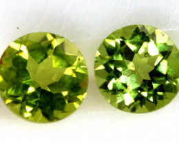 1.76 CTS PERIDOT FACETED PAIRS CG-3324
