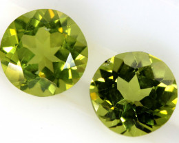1.87 CTS PERIDOT FACETED PAIRS CG-3325