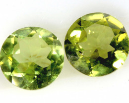 1.63 CTS PERIDOT FACETED PAIRS CG-3330