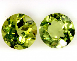 1.74 CTS PERIDOT FACETED PAIRS CG-3332