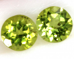 1.59 CTS PERIDOT FACETED PAIRS CG-3338