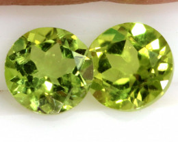 1.98 CTS PERIDOT FACETED PAIRS CG-3339