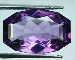 ~CUSTOM CUT~ 14.70 Cts Natural Purple Amethyst Fancy Octagon Bolivia