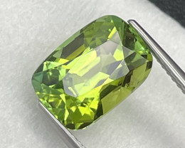 5.69 Cts Apple Green AAA Grade Afghanistan Natural Tourmaline Unheated