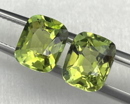 4.67 Cts Afghanistan Apple Green Matching Pair Tourmaline Unheated