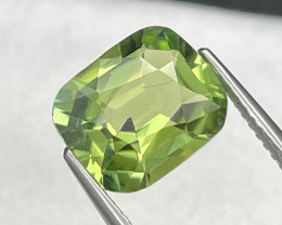 3.54 Cts Top Grade Afghanistan Natural Apple Green Tourmaline