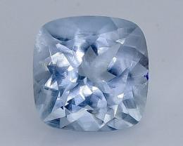 2.14 Crt Natural  Aquamarine Faceted Gemstone.( AB 12)