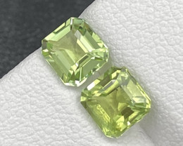 1.94 Cts Asscher Cut Olivine Color Afghanistan Natural Tourmaline