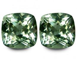 23.15Cts Stunning Natural Green Amethyst (prasiolite) Master Cushion Cut Pa