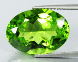 10.53Cts Genuine Excellent Natural Peridot Oval Shape Loose Gemstone REF VI