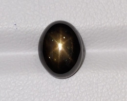 3.90 CTS NATURAL BLACK SIX LINE STAR SAPPHIRE UNHEATED GENUINE CABS