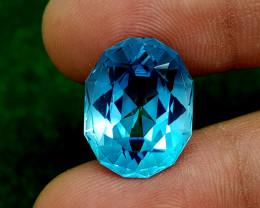 20.45CT BLUE TOPAZ PRECISION CUT BEST QUALITY GEMSTONE IIGC22