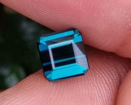 UNHEATED 1.64 CTS NATURAL STUNNING INDICOLITE BLUE TOURMALINE MOZAMBIQUE