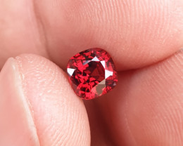 UNTREATED 1.13 CTS NATURAL STUNNING VIVID RED SPINEL FROM BURMA
