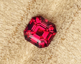 2.10 ct Luc Yen vivid red spinel.