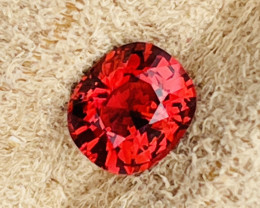 1.35 ct Luc Yen vivid red spinel.