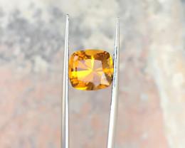 3.60 Ct Natural Yellowish Transparent Citrine Gemstone