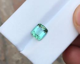 1.60 Ct Natural Blueish Transparent Tourmaline Ring Size Gemstone