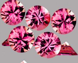 3.30 mm Round 5 pcs 0.75ct Pink Sapphire [VVS]