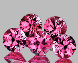 3.20 mm Round 5 pcs 0.74ct Pink Sapphire [VVS]