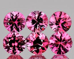 3.00 mm Round 6 pcs 0.87ct Pink Sapphire [VVS]