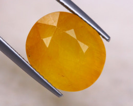 10.74ct Yellow Sapphire Oval Cut Lot GW8364