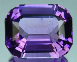 ~CUSTOM CUT~ 7.78 Cts Natural Purple Amethyst Fancy  Octagon Bolivia