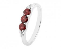 Garnet 925 Sterling silver ring #718
